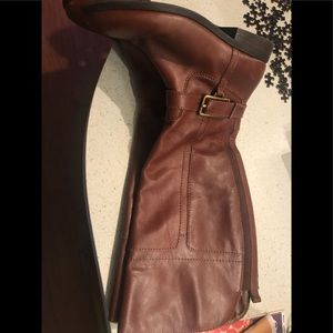 Marc Fisher XXL Calf Cognac Riding Boots
